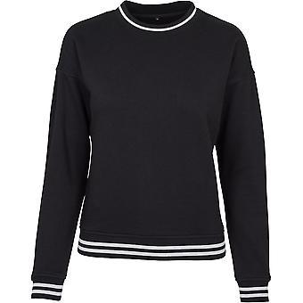 Cotton Addict Womens College Crew Neck Casual Sweater