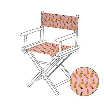 Gardenista® Tropic Pineapples Design Replacement Directors Chair Canvas Cover