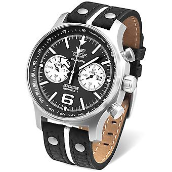 Vostok expedition north pole Quartz Analog Man watch with cowhide bracelet 6S21-5955199