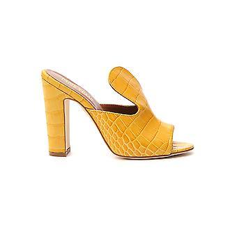Paris Texas Px70cyellow Women's Yellow Leather Sandals