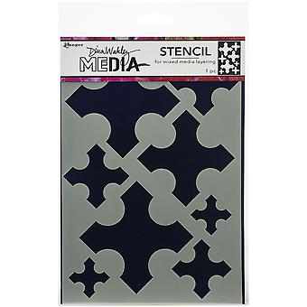 "Dina Wakley Media Stencils 9""X6"" - Large Medieval Crosses"