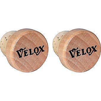 Velox vintage handlebar plugs / / Cork/wood