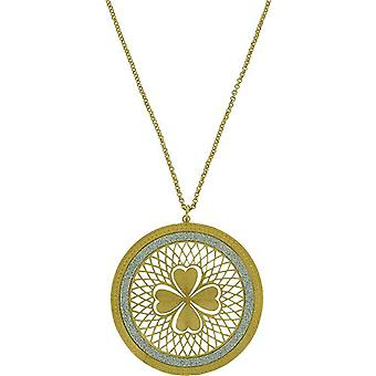 Park Lane Ladies Large Goldtone Clover Pendant with Glitter on 18 Chain