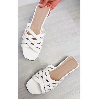 Ikrush Womens Lennon Patente Slip On Sandals