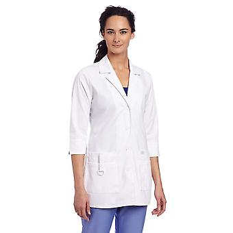 Dickies Scrubs Women's Junior Fit 3/4 Sleeve Lab Coat, White,, White, Size Large