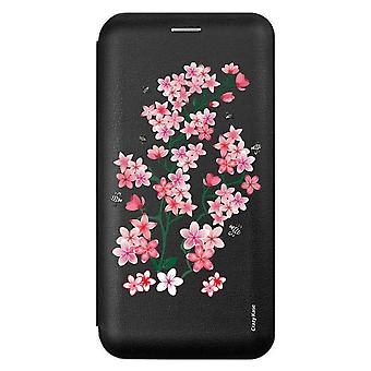 Funda para Samsung Galaxy A51 black Pattern Flowers from Sakura