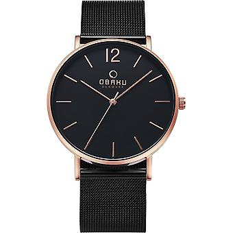 Obaku Mark Night Black Mesh Wristwatch V197GXVBMB
