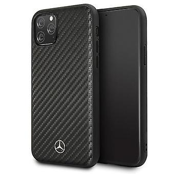 Mercedes-Benz Carbon Fiber Backcover Case iPhone 11 Pro Max - Schwarz