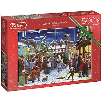 Falcon De Luxe Kerst puzzel - Kerstmarkt, 500 Stuk