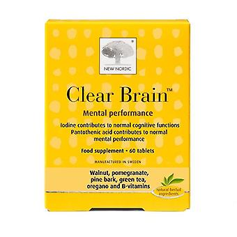 Nieuwe Nordic Clear Brain Mental Performance Tablets 60 (NLF062)