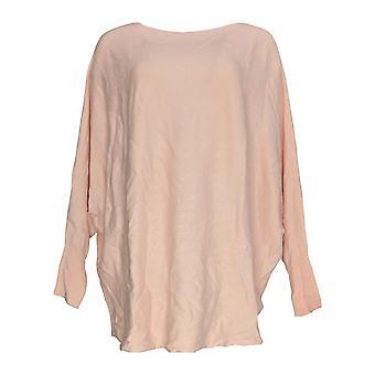 Belle by Kim Gravel Women's Sweater Bateau Neck Dolman Sleeve Pink A347116