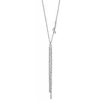 Guess PARTY TIME UBN29094 Halskette und Anhänger - doppelreihige Rhodi Stahl Anhänger von Frauen Swarovski-Kristallen