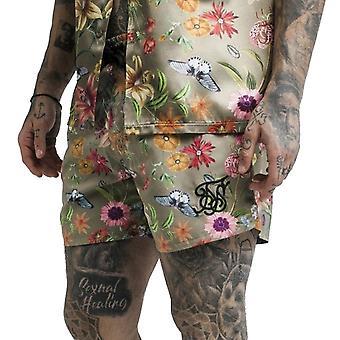 Sik Silk Ss-13743 Secret Garden Swim Shorts - Khaki