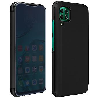 Flip Case, Mirror Case for Huawei P40 Lite, Standing Cover - Black