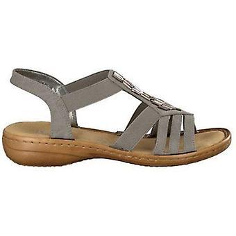 Rieker staub grå sandaler kvinnors grå