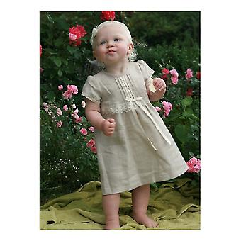 Special Occasions Linen With Short Sleeves For Baby Girls - Grace Of Sweden