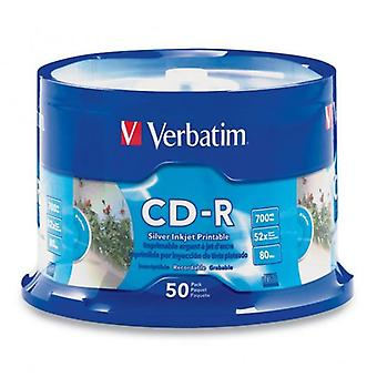 Verbatim Cd R 700 Mb 50Pk White Inkjet 52X