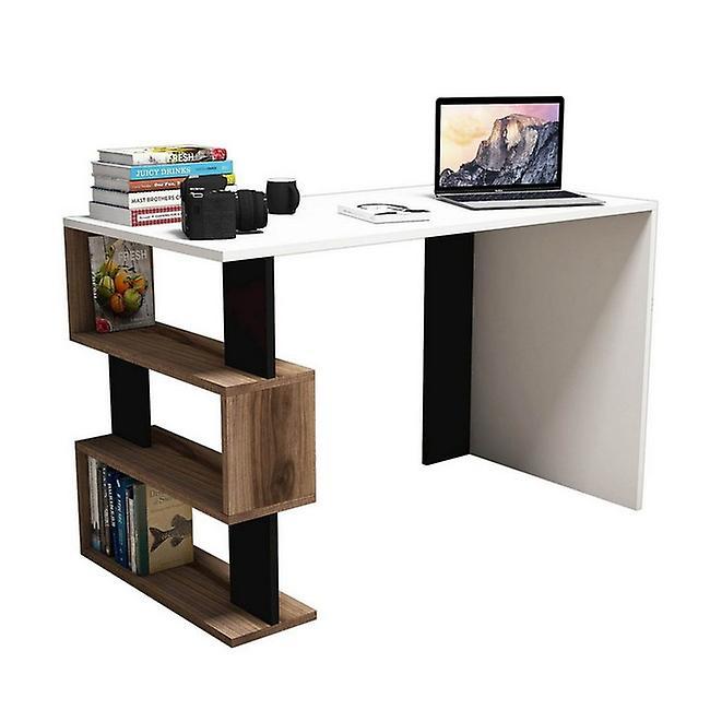 Snap Color Desk Blanc, Noir, Noix de copeaux de morue, PVC 120x60x75cm