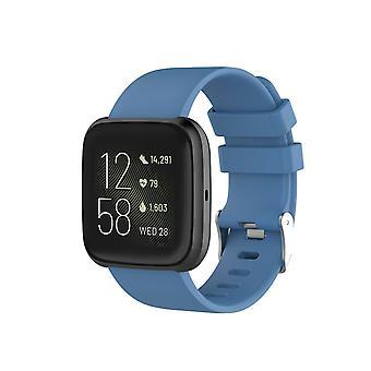 "Wymiana silikonowa bransoletka na pasek do Fitbit Versa 2/Versa Lite/Versa[Small Fits Wrist 5.5"" - 6.9"",Rock Blue]"