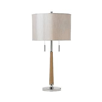 Highness Lamp, Wood, With Lampshade
