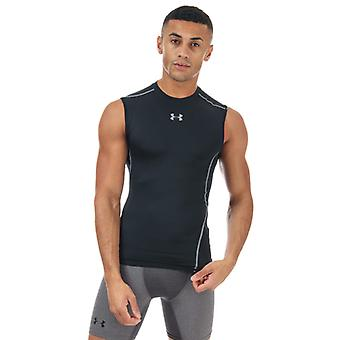 Men's Under Armour Armour Sleeveless Compression Shirt in Black