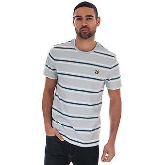T-shirt Men's Lyle And Scott Multi Stripe en argent