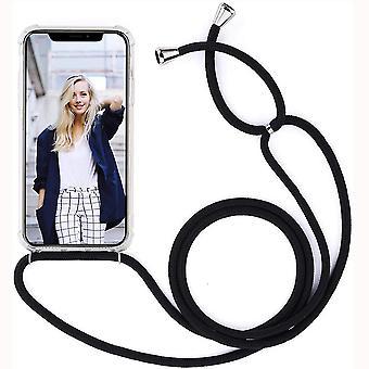 الغطاء الخلفي مع حالة الحبل -Iphone 11 6.1 & - شفاف