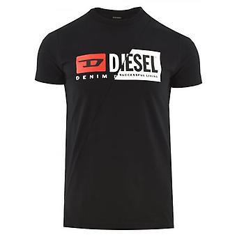 Diesel T Diego Cuty Logo Black T Shirt
