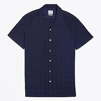 PS Paul Smith  - Cotton Patterned Shirt - Navy