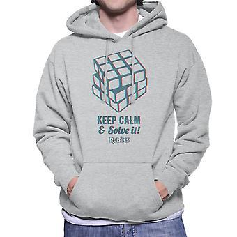 Rubik's Keep Calm And Solve It Men's Hooded Sweatshirt