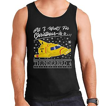 Thunderbirds All I Want For Christmas Is Thunderbird 4 Men-apos;s Vest