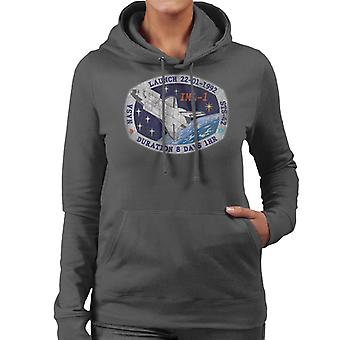 NASA STS 42 Discovery Mission Badge Distressed Women's Hooded Sweatshirt