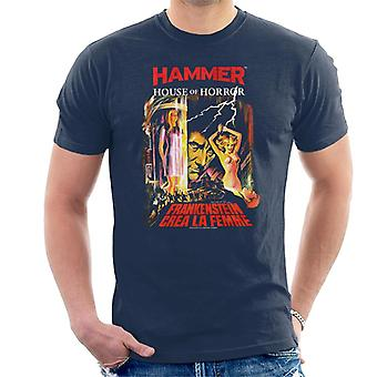 Hammer Frankenstein Crea La femme poster heren T-shirt