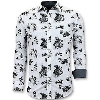 Shirts Flowers Print - White