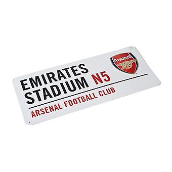 Arsenal FC Metal Street Sign