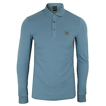 Hugo boss men's blue passerby polo shirt