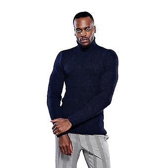 Turtuleneck navy blue knitwear | wessi