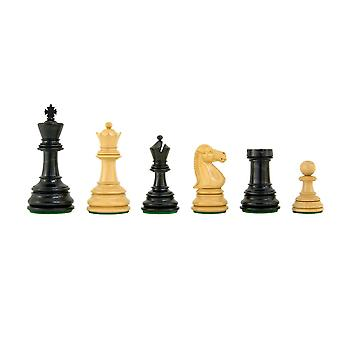 Cheltenham Series Ebony and Boxwood Chess Pieces 3.75 Inches