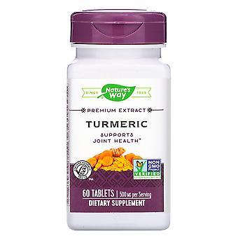 Naturaleza's Way, Extracto Premium, Cúrcuma, 500 mg, 60 Tabletas