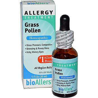 NatraBio, BioAllers, Allergy Treatment, Grass Pollen, 1 fl oz (30 ml)