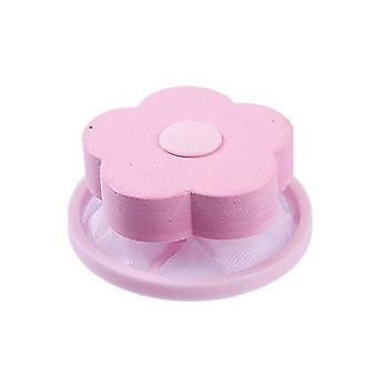 Washing Machine Filter Mesh Pouch Fiber Collecter Pink