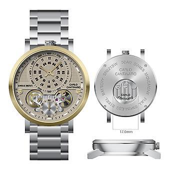 Carlo Cantinaro CC1004GB006 Men's Watch Quartzmatic GMT