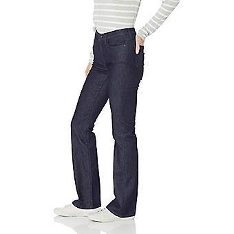 Essentials Women's Slim Bootcut Jean, Rinse, 16 Regular