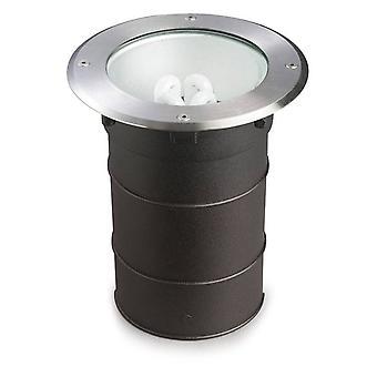 1 Licht verzonken vloerlicht roestvrij staal Aisi 316 IP67, E27