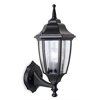 1 Lanterne murale extérieure légère - Uplight Black IP44, E27