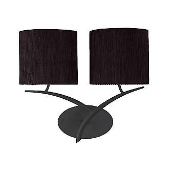 Lámpara de pared 2 Luz E27, Antracita con tonos ovalados negros