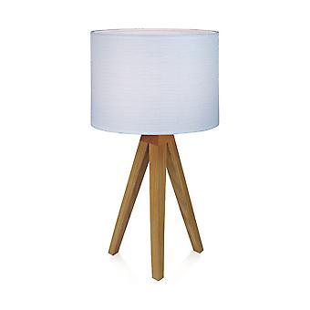 1 Leichte Tischleuchte mit zylindrischem Schirm, E14