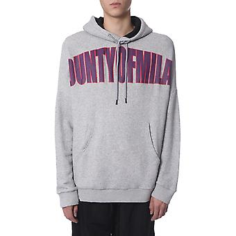 Marcelo Burlon Cmbb073f19b3701107a7 Men's Grey Cotton Sweatshirt