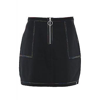 Fearless Illustration Stitched Up Mini Skirt