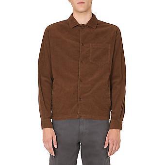 Aspesi Ce35l51085218 Men's Brown Cotton Outerwear Jacket